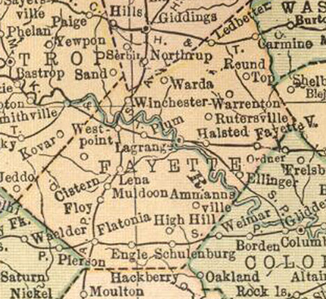 Fayette County, Texas Maps