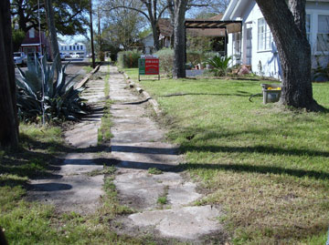 Double Curbs for Mail Cart in Fayetteville, Texas