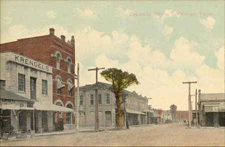 Postcard of Colorado Street in La Grange, 1907